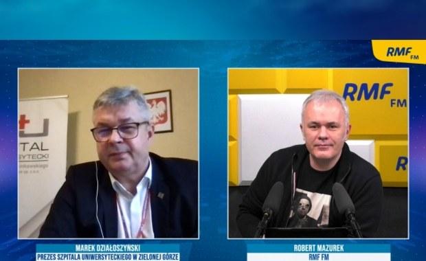 Marek Działoszyński: Teraz mamy 89 pacjentów covidowych. 14 osób to przypadki bardzo ciężkie