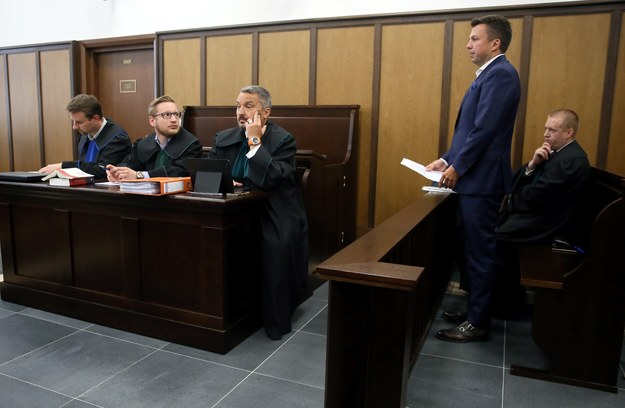 Marek Falenta na sali sądowej / Tomasz Gzell    /PAP