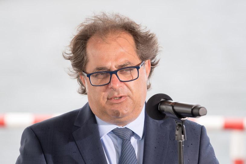 Marek Gróbarczyk, minister gospodarki morskiej i żeglugi śródlądowej /Wojciech Stróżyk /Reporter