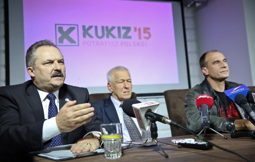 Marek Jakubiak (pierwszy z lewej) /Rafał Guz /PAP