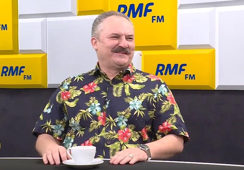 Marek Jakubiak u Roberta Mazurka na antenie RMF FM. /INTERIA.PL
