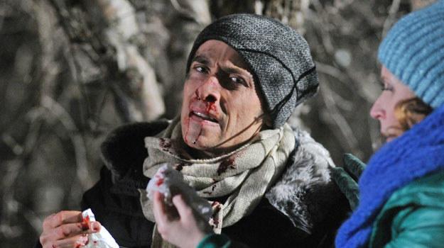 Marek (Kacper Kuszewski) z rozbitym nosem /Agencja W. Impact