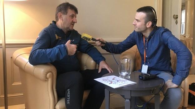 Marek Kamiński i reporter RMF FM Michał Dobrołowicz /RMF FM