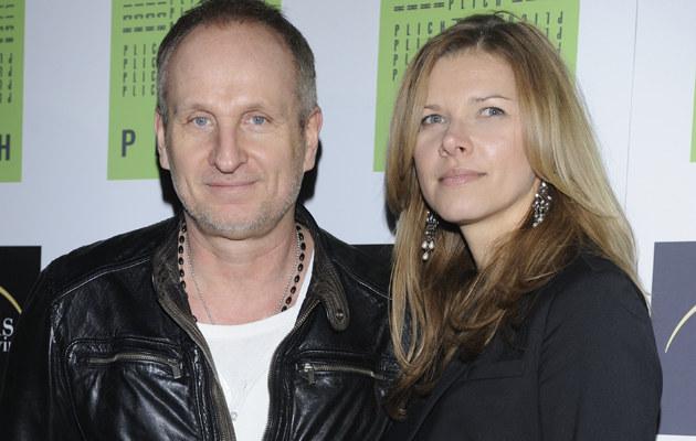 Marek Kościkiewicz z żoną Agatą /Andras Szilagyi /MWMedia
