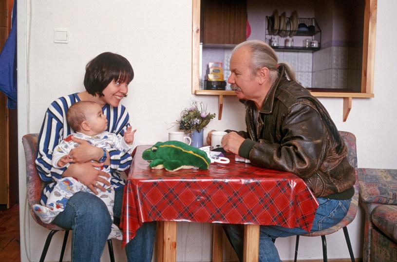 Marek Kotański z córką i wnuczką /Andrzej Hrechowicz /Agencja FORUM