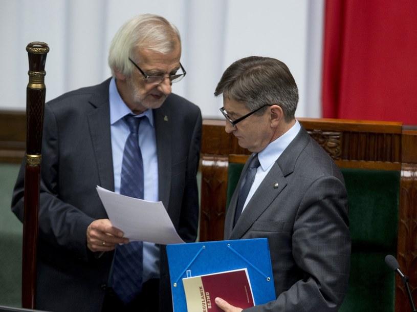 Marek Kuchciński i Ryszard Terlecki /fot. Andrzej Iwanczuk /Reporter