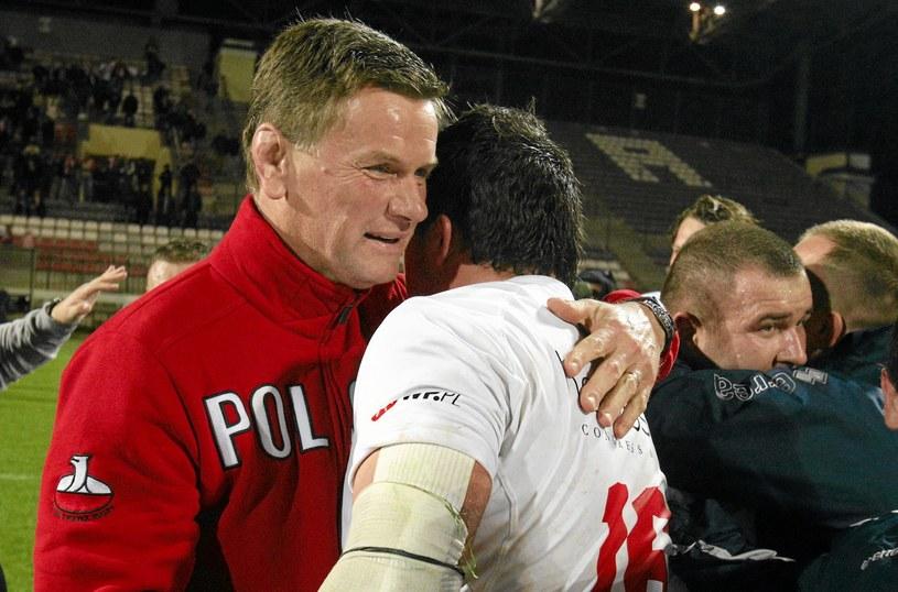 Marek Płonka (z lewej), trener reprezentacji Polski w rugby /Kuba Atys /Agencja Gazeta