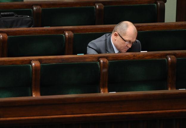 Marek Sawicki w ławach rządowych / fot. J. Turczyk /PAP