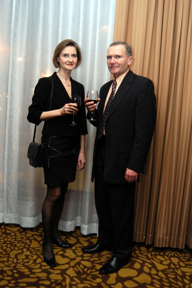 Marek Siudym z byłą żoną, Joanną; 2004 rok /Niemiec /AKPA