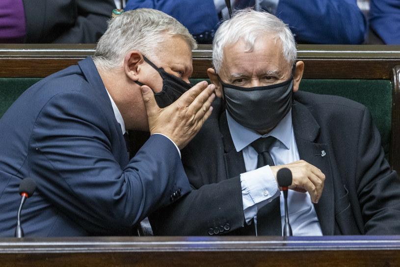 Marek Suski i Jarosław Kaczyński /Andrzej Iwańczuk /Reporter