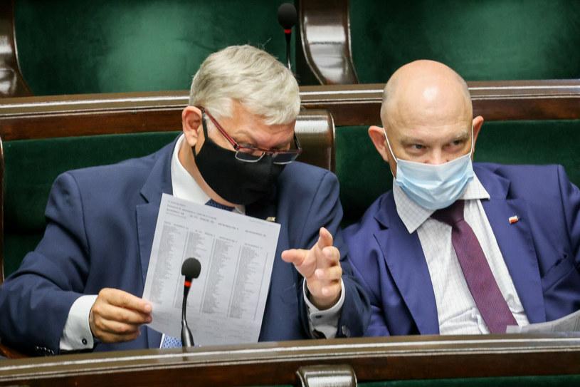 Marek Suski i Waldemar Andzel w Sejmie /Jacek Dominski/ /East News