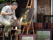 """Marek Suski pokazał swój obraz. """"Malowałem przed snem"""""""