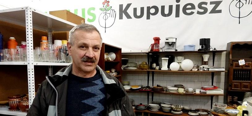 Marek w sklepie na Os. Willowym w Krakowie /INTERIA.PL