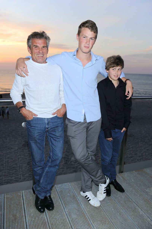 Marek Włodarczyk z synami, zdjęcie z 2011 roku /Tricolors /East News