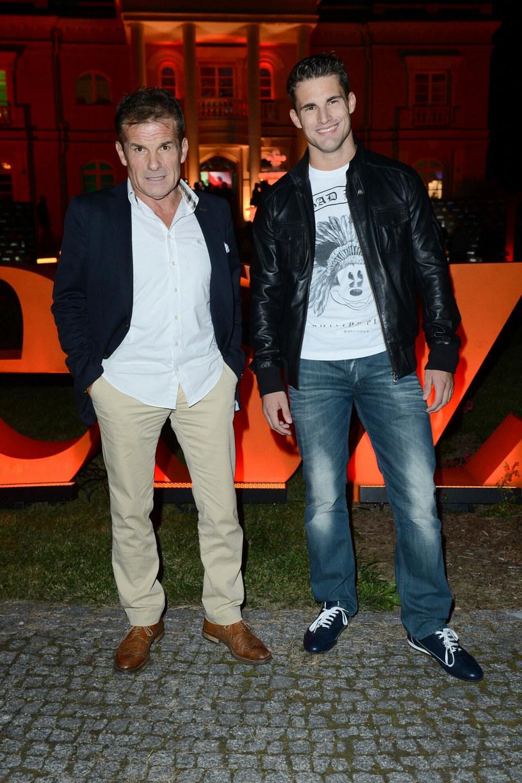 Marek Włodarczyk z synem, zdjęcie z 2012 roku /East News