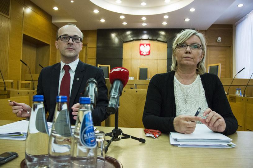 Marek Zubik i Julia Przyłębska w czerwcu 2016 r. /Andrzej Hulimka  /Reporter