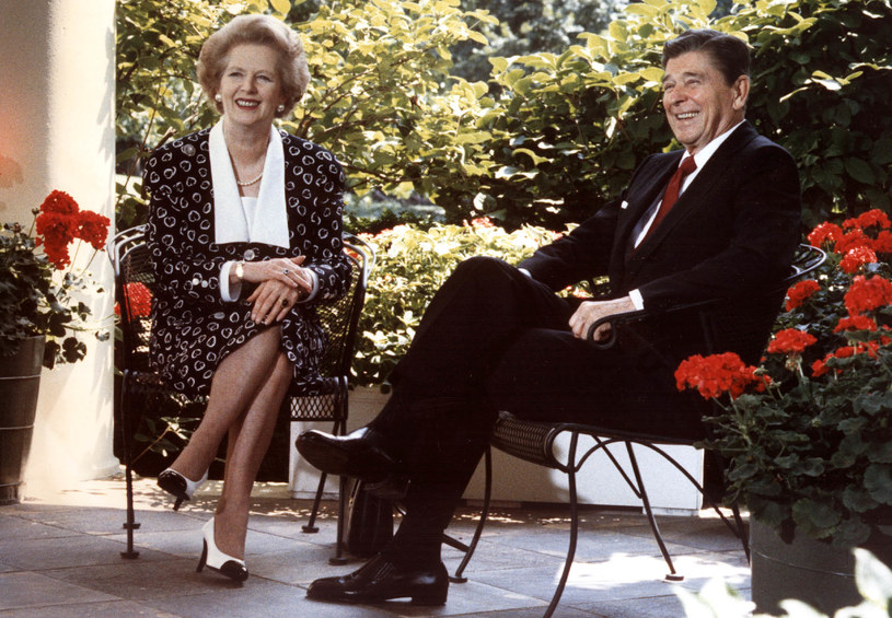Margaret Thatcher i Ronald Reagan /AFP