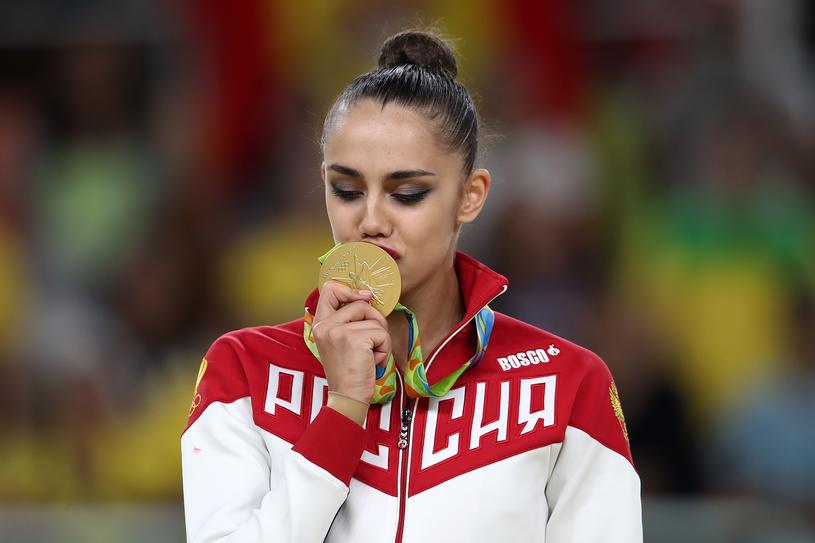 Margarita Mamun ze złotym medalem olimpijskim /Mark Kolbe /Getty Images