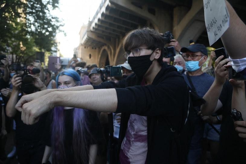 Margot podczas piątkowych protestów / Jakub Kamiński    /East News