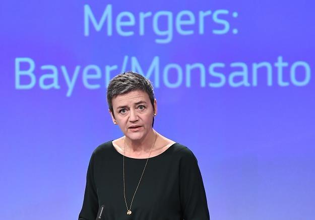 Margrethe Vestager, unijna komisarz ds. konkurencji. Fot.  EMMANUEL DUNAND /AFP