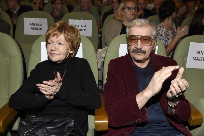 Maria Czubaszek i Wojciech Karolak /Kurnikowski /AKPA