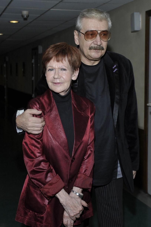 Maria Czubaszek i Wojciech Karolak /Gałązka /AKPA