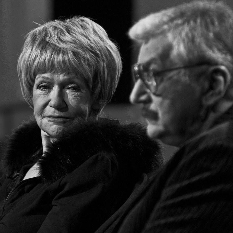 Maria Czubaszek z mężem Wojciechem Karolakiem /Justyna Rojek /East News