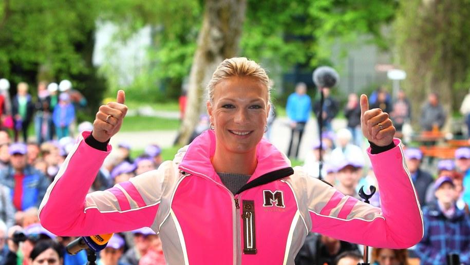 Maria Hoefl-Riesch będzie ekspertką niemieckiej telewizji /Karl-Josef Hildenbrand /PAP/EPA