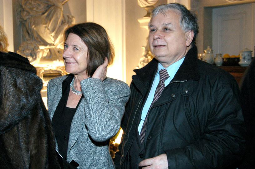 Maria i Lech Kaczyńscy w 2004 roku /Zawada /AKPA