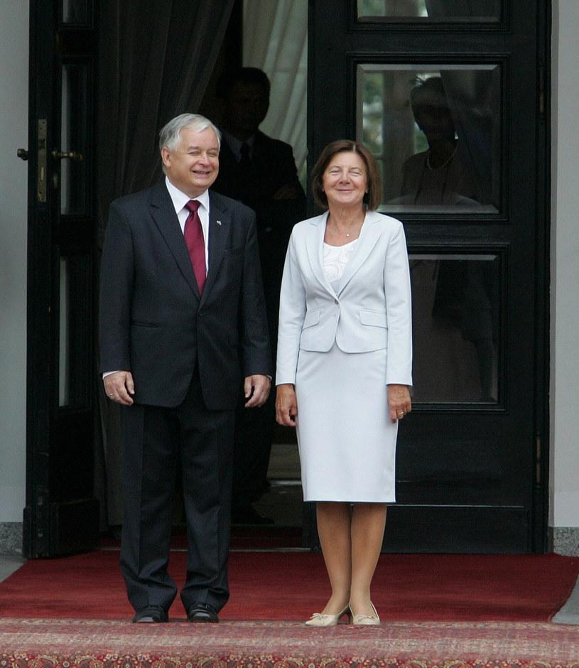 Maria i Lech Kaczyńscy /Witold Rozbicki/REPORTER /East News