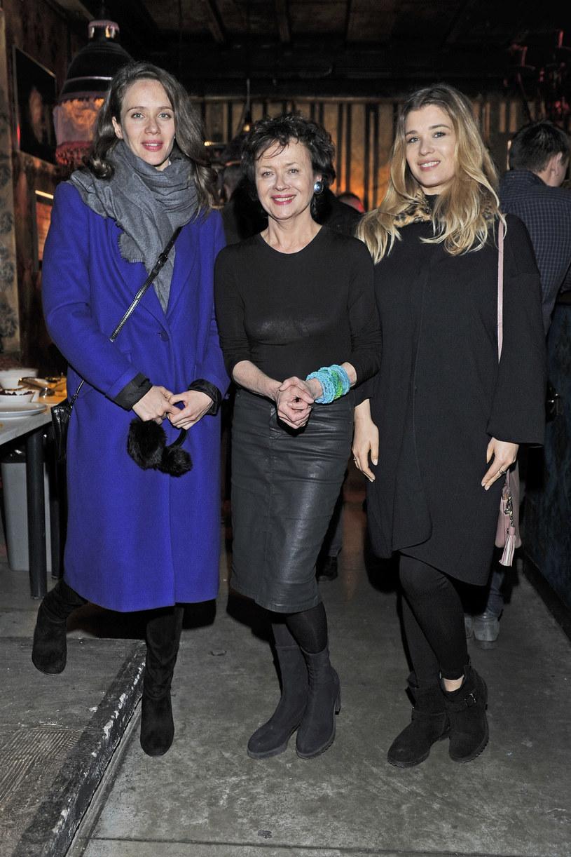 Maria Konarowska z mamą Joanną Szczepkowską i siostrą Hanną Konarowską /Niemiec /AKPA
