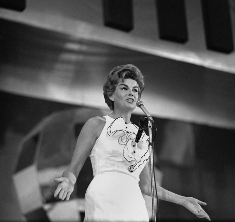 Maria Koterbska podczas III Międzynarodowego Festiwalu w Sopocie, rok 1963 /Agencja FORUM