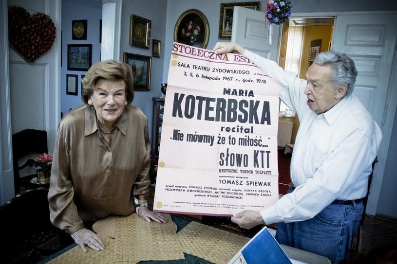 Maria Koterbska z mężem Janem Franklem w ich mieszkaniu w Bielsku-Białej - 2009 r. /Agencja SE /East News