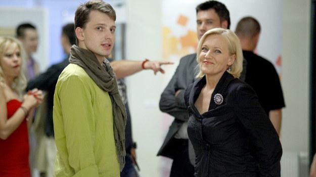 """Maria Pakulnis na planie """"Pierwszej miłości"""" /AKPA"""