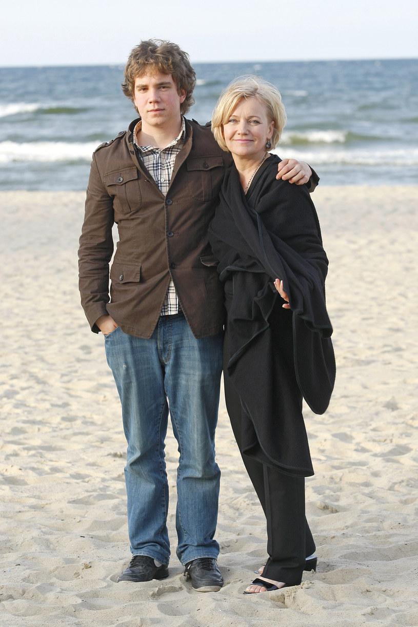 Maria Pakulnis z synem Janem Zaleskim /AKPA