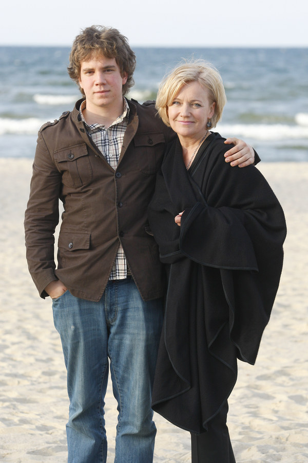 Maria Pakulnis z synem Janem /Engelbrecht /AKPA