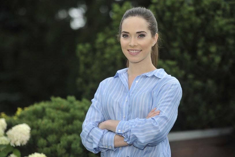 Maria Pawłowska na planie serialu /AKPA