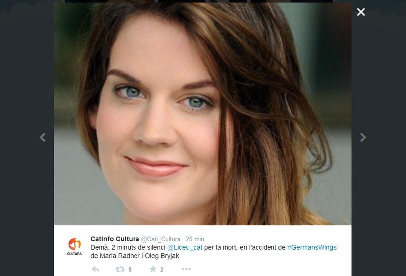 Maria Radner /Twitter