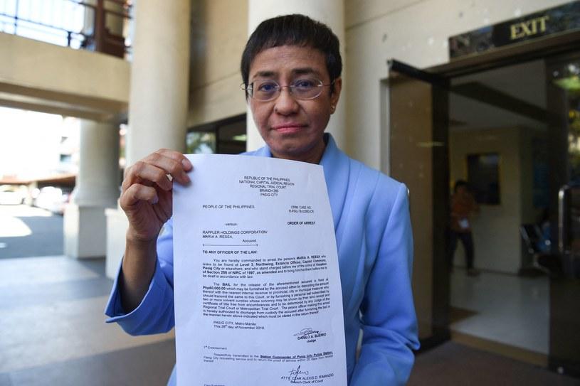 Maria Ressa laureatką pokojowego Nobla. Kim jest filipińska dziennikarka? /AFP