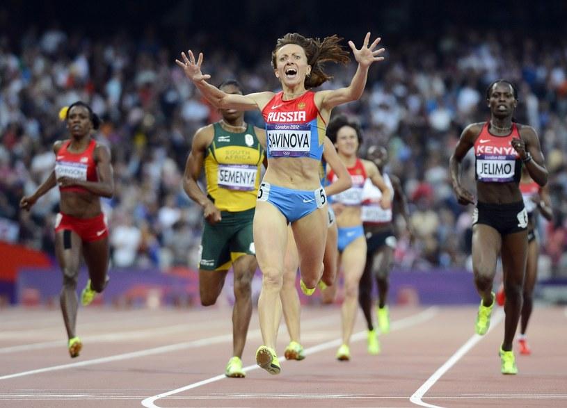 Maria Sawinowa, mistrzyni olimpijska na 800 m z Londynu /PAP/EPA