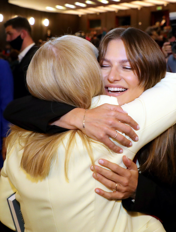 Maria Stachurska bardzo kibicuje córce i zięciowi /Piotr Molecki /East News
