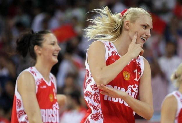 Maria Stepanowa, jedna z liderek koszykarskiej reprezentacji Rosji /AFP