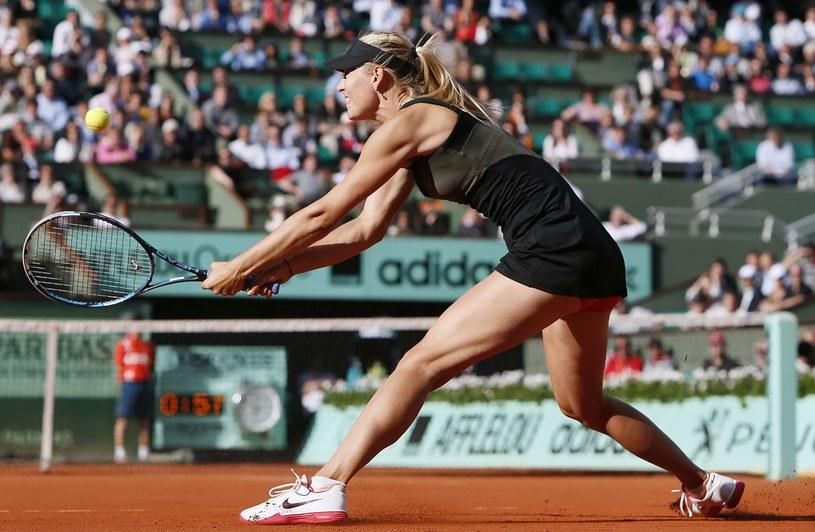 Maria Szarapowa na kortach Rolanda Garrosa /. /AFP