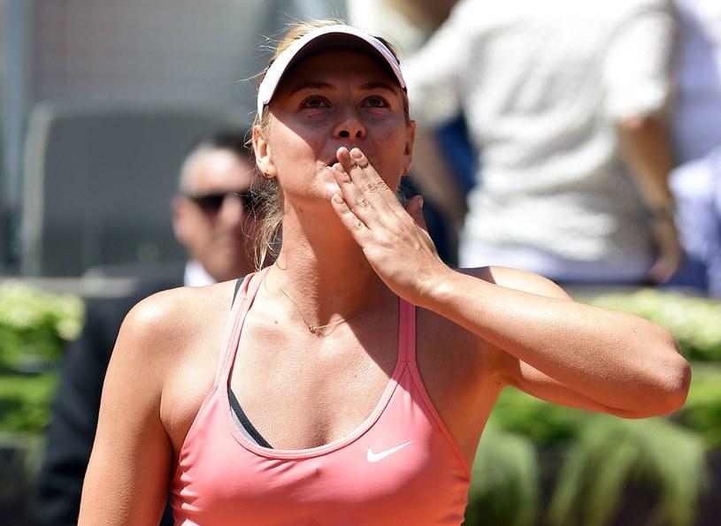 Maria Szarapowa po pokonaniu Caroline Wozniacki /AFP