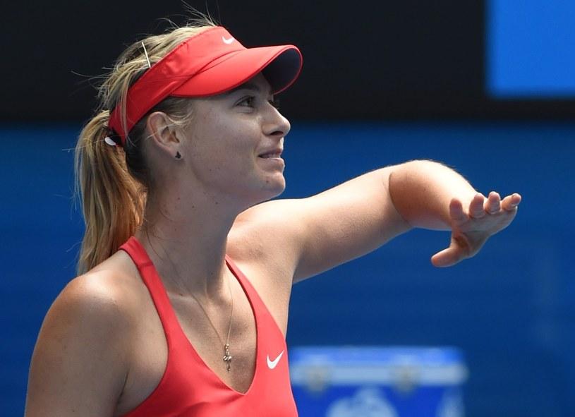 Maria Szarapowa w finale Australian Open. /AFP