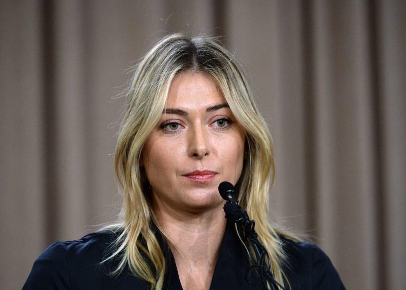 Maria Szarapowa w poniedziałek poinformowała o wpadce dopingowej /AFP