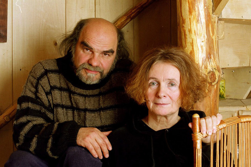 Maria Szyszkowska z mężem Janem Stępniem /Grzegorz Roginski /Reporter
