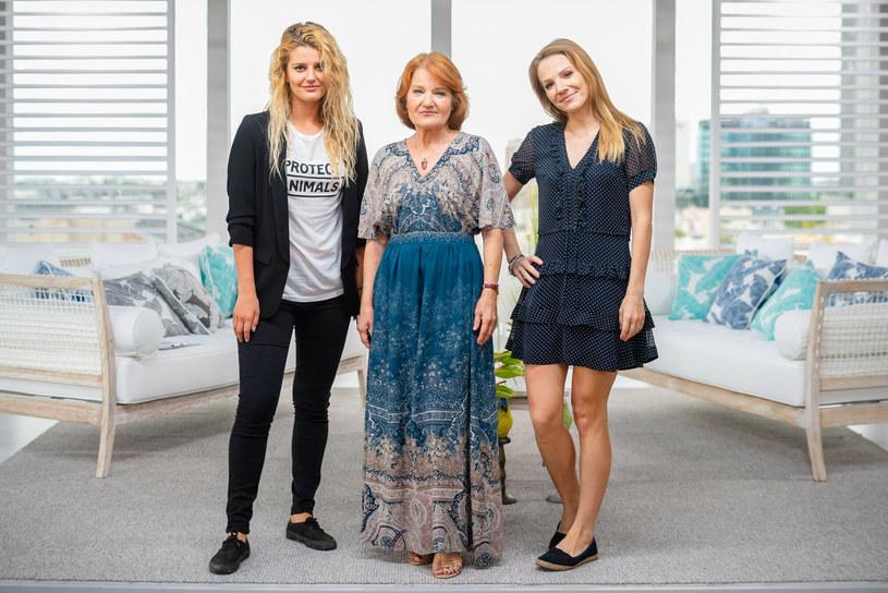 Maria Winiarska z córkami /Tomasz Urbanek /East News