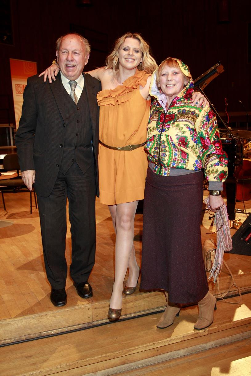 Maria z rodzicami /Jankowski /Reporter