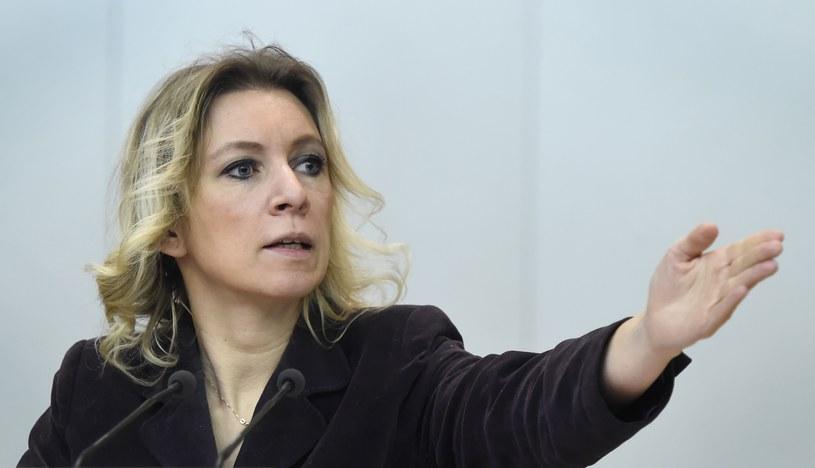 Maria Zacharowa, rzecznik rosyjskiego MSZ /ALEXANDER NEMENOV / AFP /AFP
